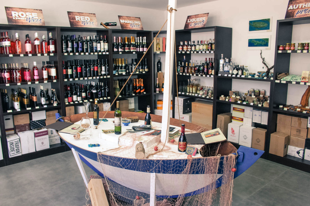 A Wine Shop for beverages and souvenirs